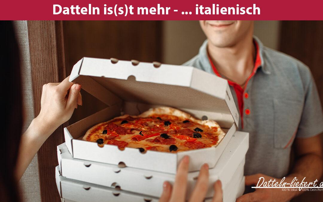 Pizza wird in Datteln per Pizzataxi geliefert von Datteln-liefert.de